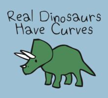 Real Dinosaurs Have Curves Kids Tee