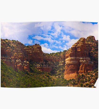 Sedona Majestic Mountains Poster