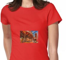 Pierhead Building and Carousel, Cardiff, south Wales. UK Womens Fitted T-Shirt