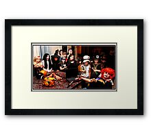 A Syni'ster Crime Scene/Posted by Crime Stoppers Framed Print