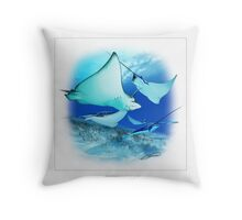 SPOTTED EAGLE RAY 8 Throw Pillow