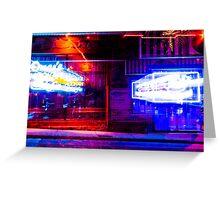 Hookah Bar at Night Greeting Card