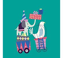 Fun Circus Elephant Photographic Print