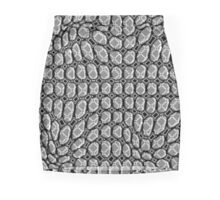 Gray Pepples Pattern Mini Skirt