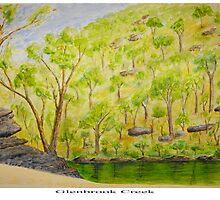 Glenbrook Creek - Watercolour Painting by Richard  Willett
