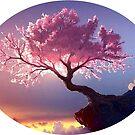 Cherry Blossom Sunset by WienArtist