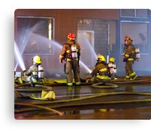 Firefighters Sitting Down on the Job to Get 'er Done Canvas Print