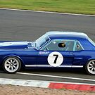 Blue Sixties Ford Mustang by Willie Jackson