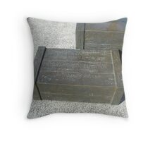 British Antartic Expedition Constitution Dock Tassie Throw Pillow