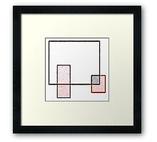 Abstract Art Squares Framed Print