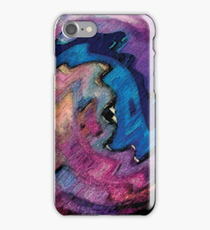 Perspective Horizon, page 12-13 from Everything IS, a visual and philosophical theory of everything iPhone Case/Skin