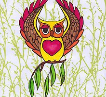Owl heart by amberelladesign