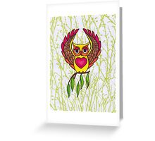 Owl heart Greeting Card