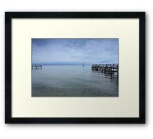 A calm voyage Framed Print