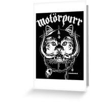 Motorpurr Greeting Card