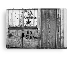 Sleeping Garbage Canvas Print