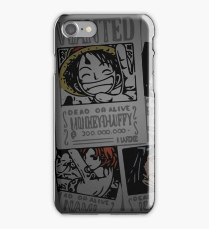 One Piece- straw hat wanted posters iPhone Case/Skin