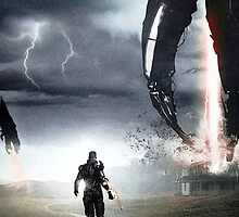Mass Effect - Shepard Fighting the Reapers by TylerMellark
