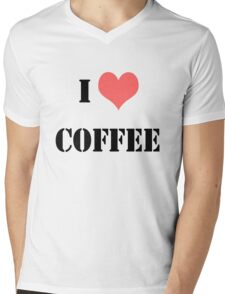 I LOVE COFFEE Mens V-Neck T-Shirt