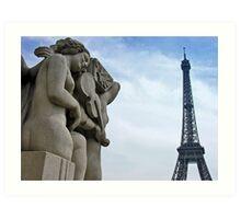 Une chanson pour Paris Art Print