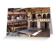 Shakespeare Globe Theater Greeting Card