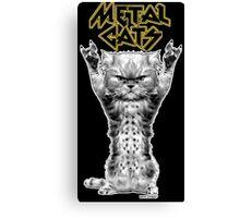 metal cats Canvas Print
