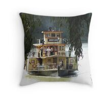 Paddle steamer Emmylou Throw Pillow
