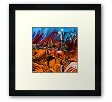 UP WHERE WE BELONG - Abstract34 Wall Art + Products Design  Framed Print