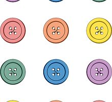 Buttons mini stickers by Amy-Elyse Neer