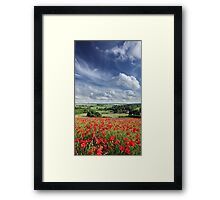 Poppylicious View Framed Print