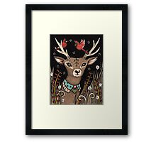 The Smallest Stag Framed Print