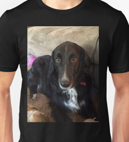 Mitzu the Black Dog Unisex T-Shirt