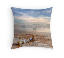 Winter morning at Kyson Point Throw Pillow