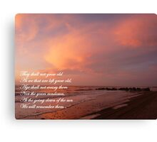 -REMEMBRANCE.11-11-11 Canvas Print
