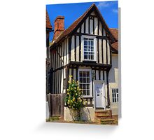 Yellow roses, Lavenham Greeting Card