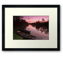 Ross Island Sunrise Framed Print