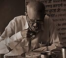 OLDMAN EATING FOOD by RakeshSyal
