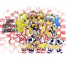 Anime Queen of Hearts  Loyal Card Guards Photographic Print