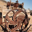 Detail of machinery on the site of the abandoned Dunlop Homestead by Blue Gum Pictures