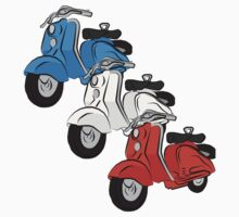 Three vintage scooters by Auslandesign