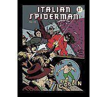 Italian Spiderman comic cover Photographic Print
