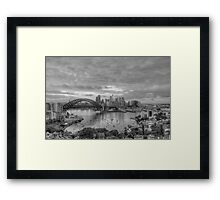 Oh What A Beautiful Morning (Monochrome) - The HDR Experience Framed Print