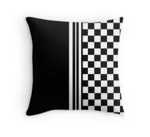 Stylish black and white ska inspired Throw Pillow