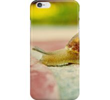 Snail Crossing the Finish Line...slowly... iPhone Case/Skin
