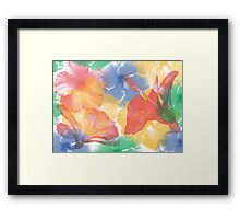 Hibiscuses Framed Print