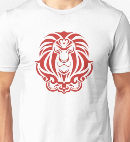 Zodiac Sign Leo Red Unisex T-Shirt