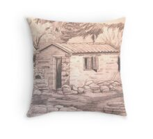 Old stone House, Platanakia, Samos, Greece Throw Pillow