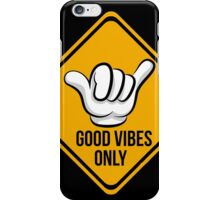 Good Vibes - Cool surf Fingers iPhone Case/Skin