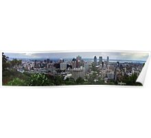 Panoramic view of Montreal Poster