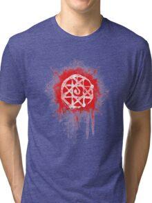 FMA. Alphonse Elrick blood sign. Fullmetal Alchemist. Tri-blend T-Shirt